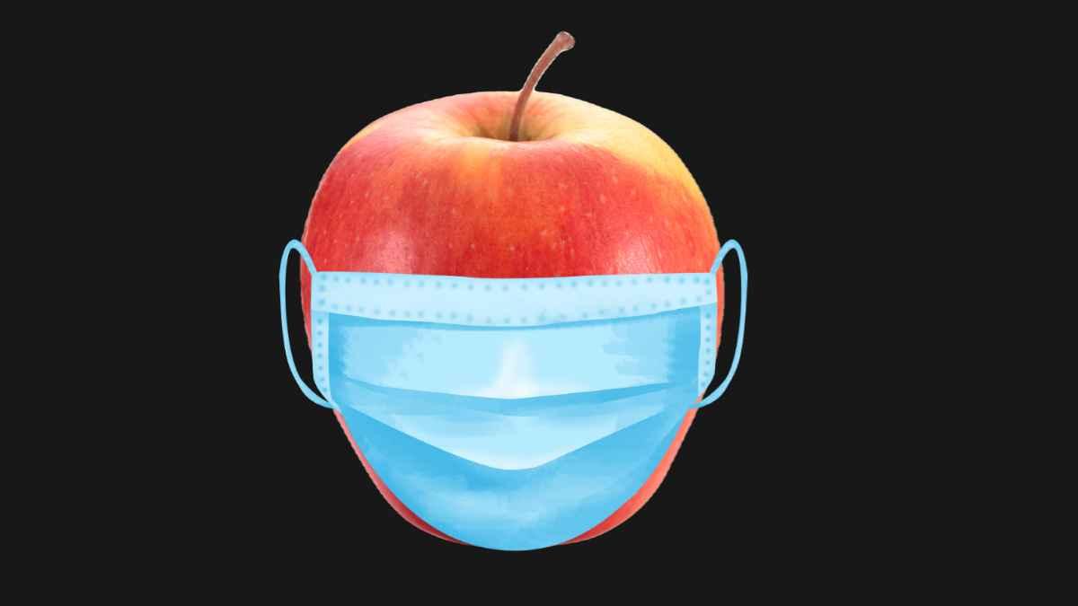 mela mascherina
